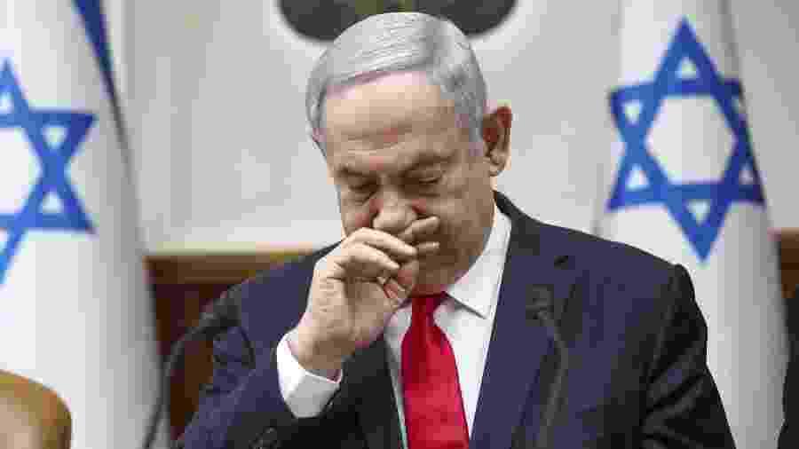 Primeiro-ministro de Israel Netanyahu admitiu ter recebido pressão de muitos setores para que a atividade econômica fosse retomada - Oded Balilty/POOL/AFP