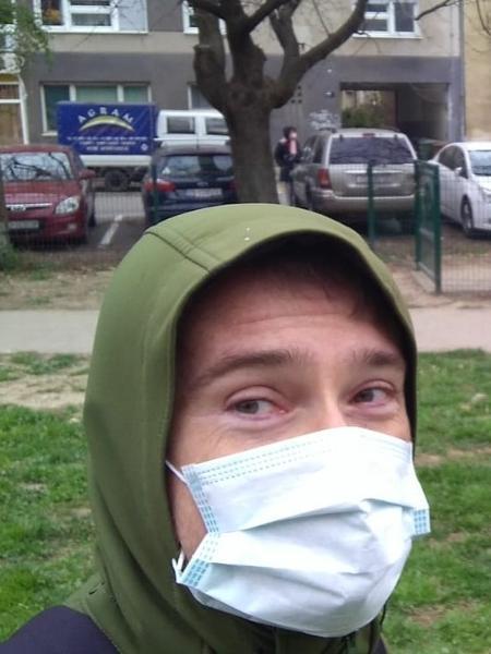 Slivac: gripado e em meio à crise da covid-19, saiu de casa correndo após terremoto - Arquivo pessoal