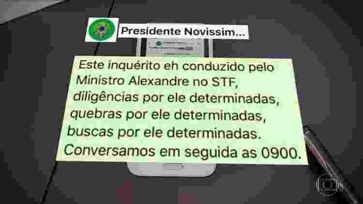 Print Moro x Bolsonaro 2 - Rede Globo/Reprodução - Rede Globo/Reprodução