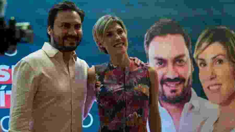 Filipe Sabará e Marina Helena (Novo), que seria vice da chapa - Reprodução/Facebook/MarinaHelenaNovo