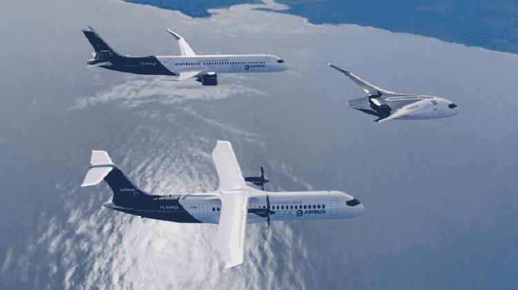 A Airbus está explorando o uso de hidrogênio como combustível em seu projeto ZEROe - Airbus - Airbus