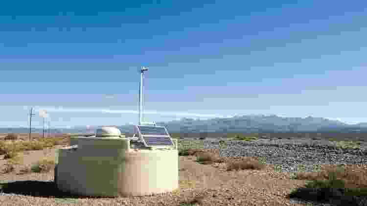 Tanque de água do Observatório Pierre Auger  - Divulgação - Divulgação