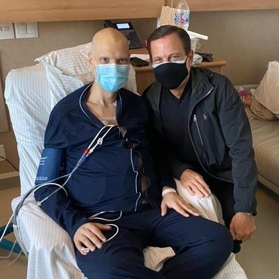 Bruno Covas con Joao Doria in ospedale - procreazione / Instagram