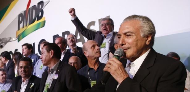 O vice-presidente Michel Temer é reconduzido à presidência nacional do PMDB