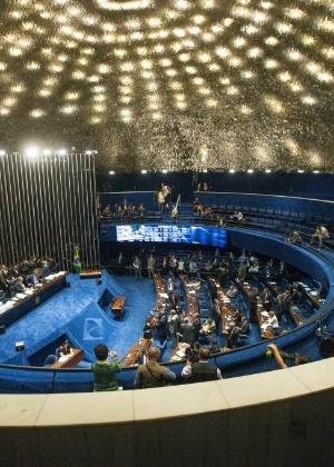 O Senado Federal, onde será julgado o processo de impeachment da presidente Dilma Rousseff - Xinhua