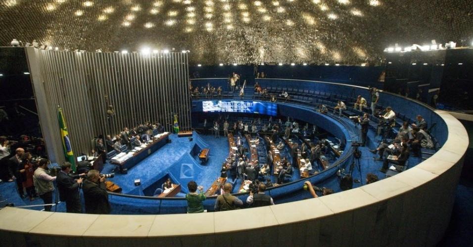 19.abr.2016 - Na reunião de líderes do Senado, o presidente Renan Calheiros anunciou que a comissão especial que analisará o processo de impeachment da presidente Dilma Rousseff será instalada na próxima segunda-feira (25), quando elegerá presidente e relator