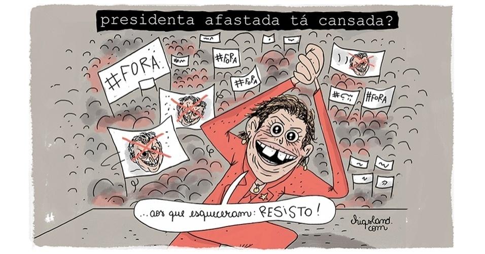 31.jul.2016 - Afastada pelo Senado, Dilma Rousseff nega cansaço e fala em resistência