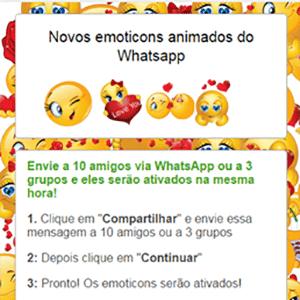 Golpe dos novos emoticons no WhatsApp - Reprodução