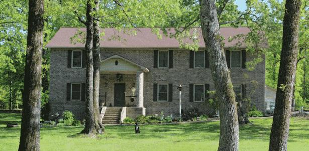 Casa construída pela família Brookins - Cara Brookins