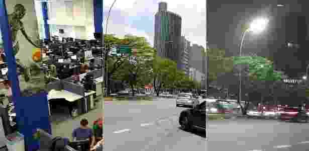 Fotos tiradas com a câmera traseira do Zenfone 3 Deluxe; na segunda e na terceira, o mesmo ponto de dia e à noite - Márcio Padrão/UOL - Márcio Padrão/UOL