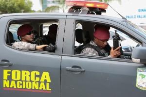 7.fev.2017 - Homens da Força Nacional patrulham a Grande Vitória desde o início do mês, após paralisação de PMs no Espírito Santo
