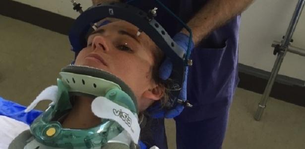 Monique Jeffrey fraturou o pescoço duas vezes em situações inusitadas