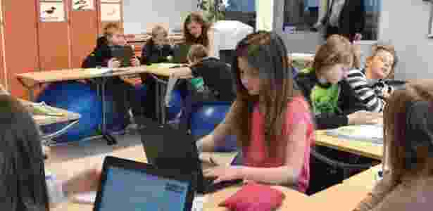 O uso de tecnologia é incentivado nas escolas da Finlândia - BBC