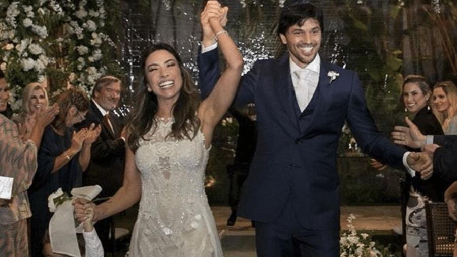 O deputado Fábio Faria em seu casamento com Patrícia Abravanel, em 29 de abril de 2017