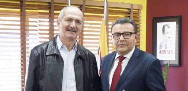 Aldo Rebelo e o presidente nacional do PSB, Carlos Siqueira