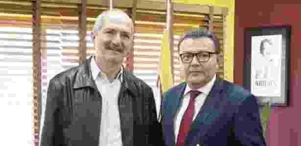 Aldo Rebelo e o presidente nacional do PSB, Carlos Siqueira - Divulgação/PSB Nacional