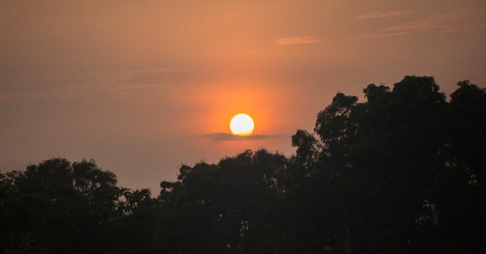 1º.dez.2017 - Pôr do sol na aldeia Djudjeko, uma das três que compõem a Terra Indígena Xikrin do Cateté