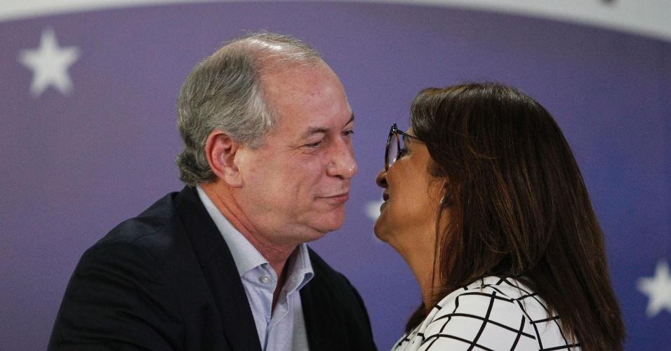 6.ago.2018 - O PDT oficializou na amanhã dessa segunda feira (6) a escolha da senadora Kátia Abreu (TO) como candidata a vice-presidente na chapa de Ciro Gomes