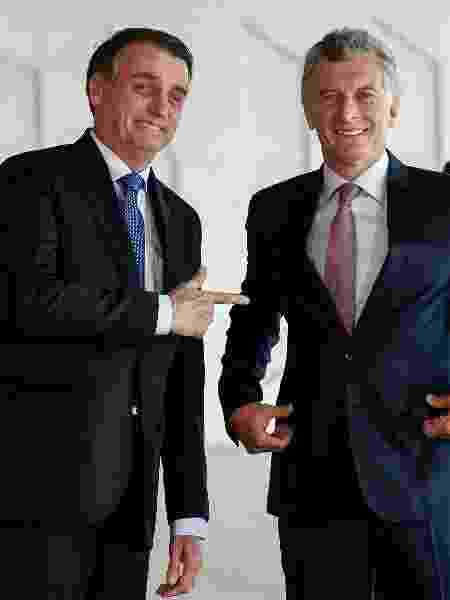 16.jan.2019 - Bolsonaro recebe Macri em Brasília em janeiro - Alan Santos/PR