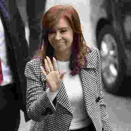 27.mai.2019 - Ex-presidente argentina Cristina Kirchner comparece pela segunda vez ao tribunal por suspeita de corrupção - Juan Mabromata/AFP