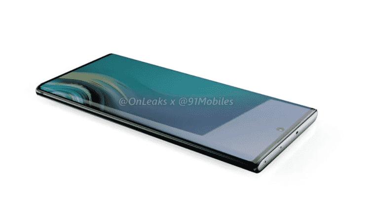 Galaxy Note 10 não deve economizar na telona - Reprodução/OnLeaks/91Mobiles