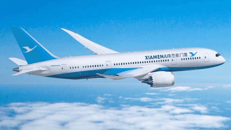 Avião da Xiamen Airlines - Reprodução/XiamenAir