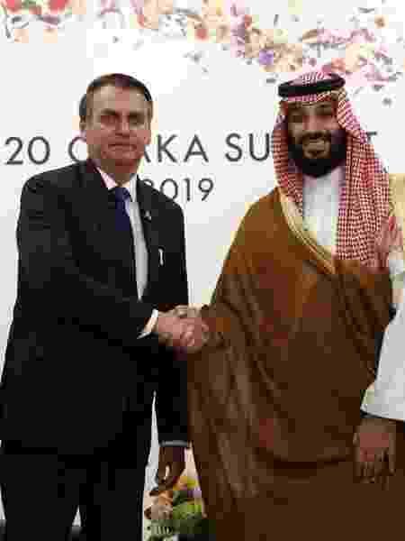 Jair Bolsonaro e o príncipe Mohammad bin Salman, da Arábia Saudita - Reprodução / Instagram