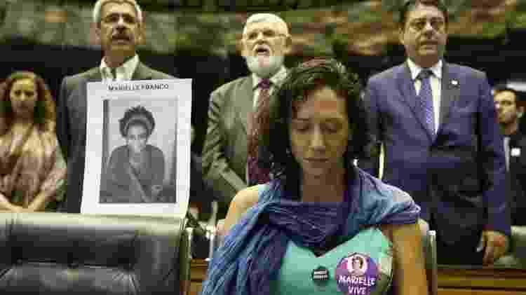 Sessão solene na Câmara, em março de 2018, pela vereadora carioca Marielle Franco; marcação de munição que a matou ajudou a identificar lote das balas - Lula Marques