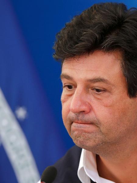 Ministro da Saúde, Luiz Henrique Mandetta, durante entrevista coletiva em Brasília -
