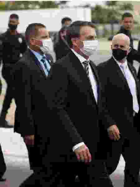 Bolsonaro na marcha rumo ao STF ao lado do general Luiz Eduardo Ramos - Foto: Pedro Ladeira/Folhapress