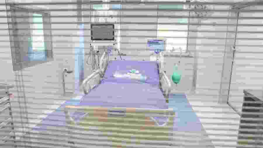 Inauguração de UTI no Sacco Hospital, em Milão, na Itália, voltado para atendimento de pacientes com o novo coronavírus - Mairo Cinquetti/NurPhoto via Getty Images