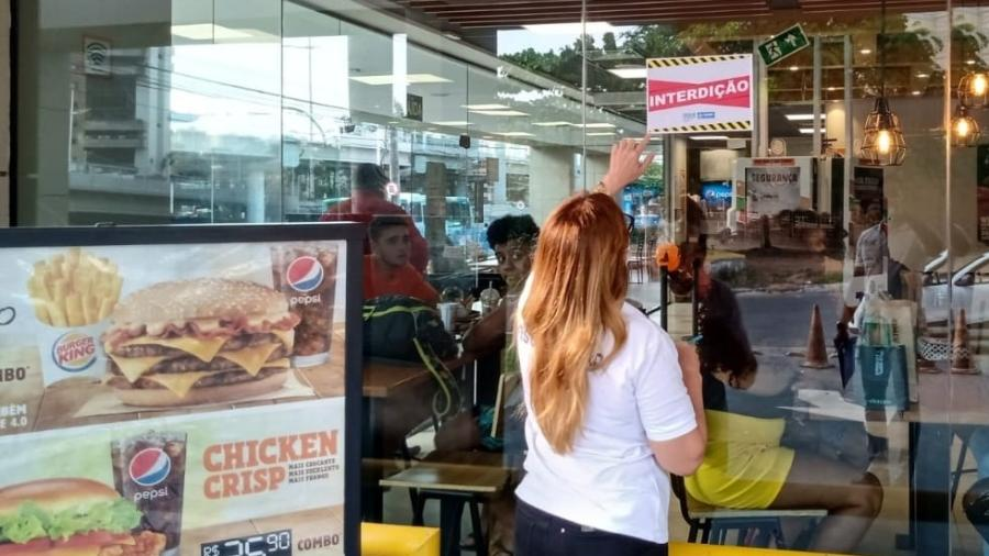 Loja do Burger King em Salvador é interditada; decreto municipal proíbe eventos e promoções que possam promover aglomeração - Divulgação