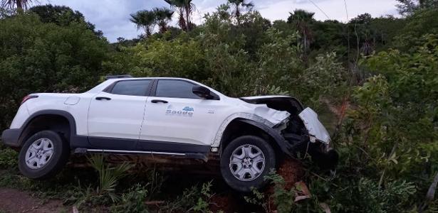 No interior do estado | Carro que se deslocava para buscar CoronaVac tomba do Piauí