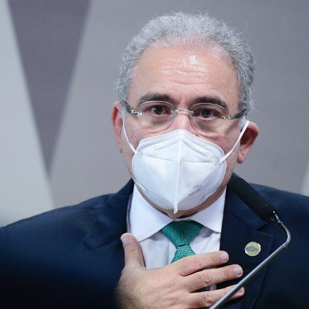Marcelo Queiroga em primeiro depoimento na CPI da Covid - Pedro França/Agência Senado