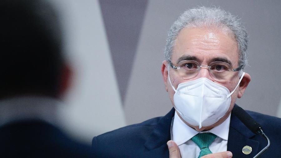 Marcelo Queiroga na CPI da Covid - Pedro França/Agência Senado