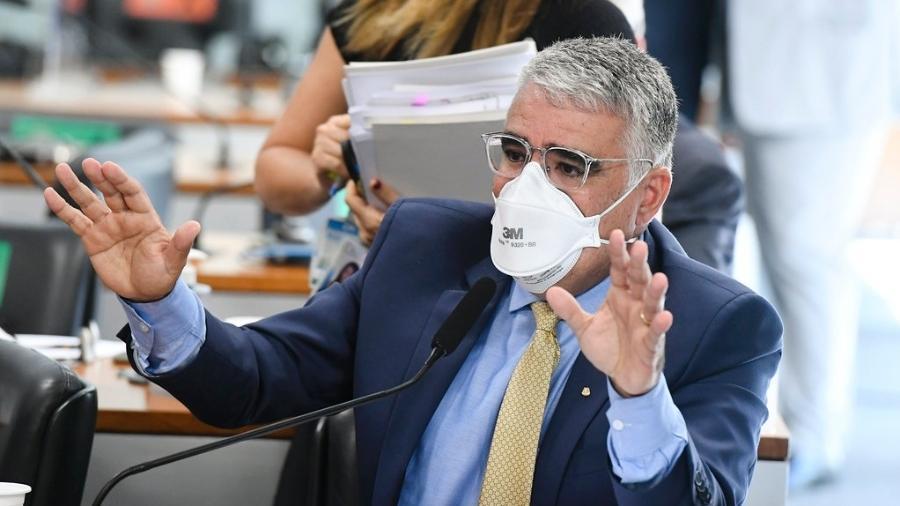 """""""[Bolsonaro] Causa aglomeração, sem uso de máscara... Não é prudente"""", disse Eduardo Girão (Podemos-CE) - Jefferson Rudy/Agência Senado"""