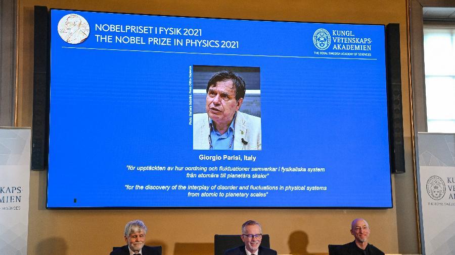 5.out.2021 - Giorgio Parisi foi um dos ganhadores do Nobel de Física de 2021  - Jonathan Nackstrand/AFP