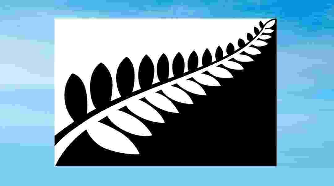 1º.set.2015 - Os habitantes da Nova Zelândia terão a possibilidade de escolher a possível nova bandeira nacional entre quatro opções, apresentadas em 1º de setembro. Na imagem, a bandeira intitulada de Silver Fern (Black & White), criada por Alofi Kanter. As quatro bandeiras 'finalistas' foram selecionadas entre mais de 10.000 propostas - Reprodução/Governo da Nova Zelândia