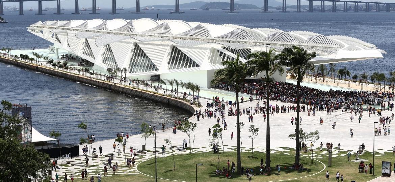 Museu do Amanhã, localizado na zona portuária do Rio de Janeiro - Wilton Júnior/Estadão Conteúdo