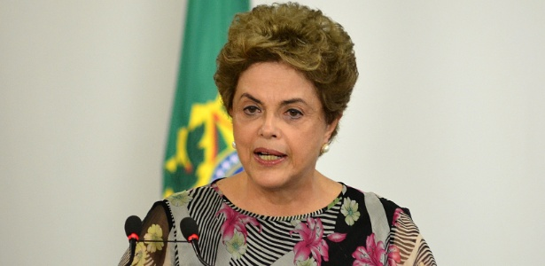 A presidente Dilma Rousseff durante evento dia 23 de março