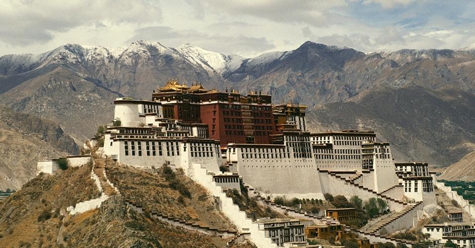 17.mai.2016 - Palácio Potala, em Lassa, Tibete, China. O local tem sido a casa de inverno do dalai-lama desde o século 7