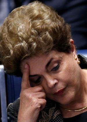 Dilma Rousseff em depoimento no Senado - Ueslei Marcelino/Reuters