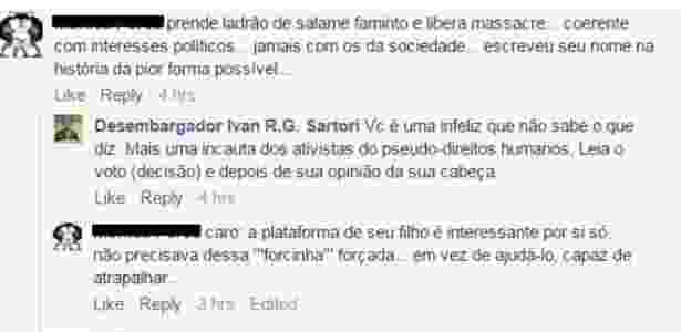 O desembargador Ivan Sartori, que defendeu a absolvição dos policiais militares envolvidos no massacre do Carandiru, trocou farpas com internautas que o criticaram - Reprodução - Reprodução