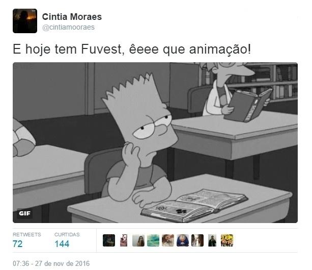 27.nov.2016 - Prova da Fuvest 2017 vira piada nas redes sociais