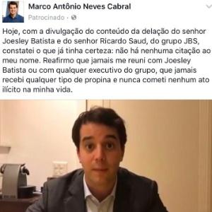 Marco Antônio Cabral (PMDB-RJ) pagou Facebook para ampliar visibilidade de post e atingir maior número de visualizações