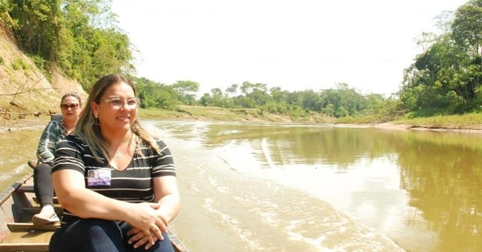 10.out.2018 - A candidata a deputada estadual Meire Serafim (MDB), 43 anos, foi a mais votado do Acre. Ela teve 10.349 votos