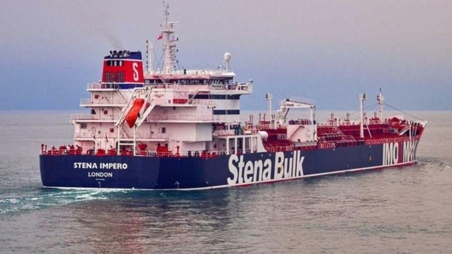 O Stena Impero foi apreendido pela Guarda Revolucionária Iraniana na sexta-feira - PA Media