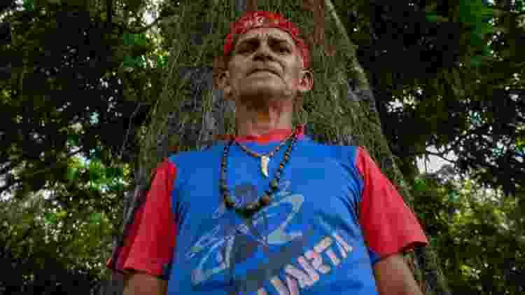 Paulo da Silva Bezerra, liderança da aldeia Açaizal - José Cícero da Silva/Agência Pública - José Cícero da Silva/Agência Pública