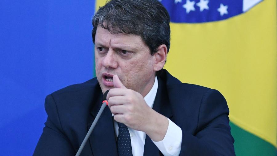Tarcísio Gomes de Freitas falou hoje por vídeo a investidores estrangeiros - Edu Andrade/Fatopress/Estadão Conteúdo