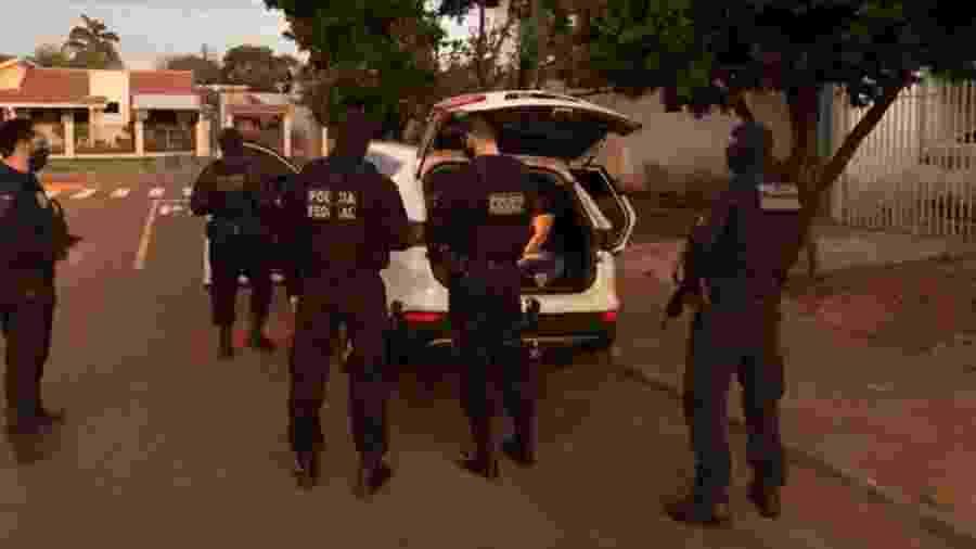 """31.ago.2020 - Operação """"Caixa Forte 2"""" das polícias Civil e Federal de MG contra o PCC - Divulgação"""